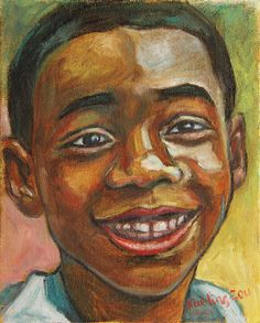 'Award Day';  gift, greeting cards, posters, prints, fine art, original art, corporate art, home decor, wall image, wallpaper, for sale, portrait, people, african american, boy, black, award, portrait, portraiture, africa, face, happy, smile, cheerful, original, art, painting,