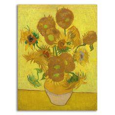 Vincent Van Gogh, Van Gogh Arte, Sunflower Canvas, Sunflower Flower, Flower Oil, Van Gogh Sunflowers, Orange Sunflowers, Painting Prints, Art Prints