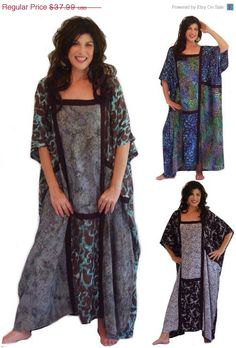Special MAY SALE 15% OFF I276 Big Patchwork Bali Batik Print Caftan Dress Art to Wear Unique Design One Size Fits All Made to Order Lotustra
