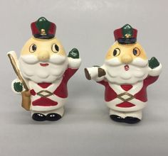 Vintage Santa Claus Toy Soldiers with Gun Trumpet Salt Pepper Shakers | eBay