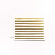 Gold Stripes Card 8 Pack by Rifle Paper Co., $16, now featured on Fab.