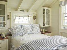 Love the built-ins! Seaside Cottage Bedroom DIY Closets | Content in a Cottage