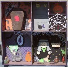 Sue's Paper Crafts: Shadow Box - Witch House