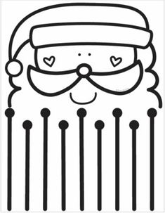 Preschool Christmas Activities, Christmas Worksheets, Preschool Activities, Apple Picture, Cutting Activities, Santa Beard, Cutting Practice, Scissor Skills, Theme Noel