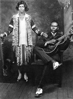 Memphis Minnie and her first husband and accompanist, Kansas Joe McCoy, circa 1930.
