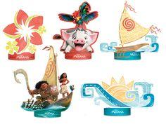 Decoração de Mesa Moana - Regina Festas Moana Party, Moana Theme, Moana Birthday Party, 4th Birthday Parties, 2nd Birthday, Moana Hawaiian, Moana Boat, Diy And Crafts, Paper Crafts