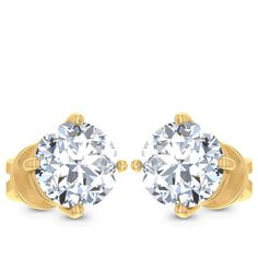 Moon Solitaire Earring solitaire earring   JewelCountry Diamond Solitaire Earrings, Moon, Stud Earrings, Jewels, Engagement Rings, The Moon, Enagement Rings, Wedding Rings, Jewerly