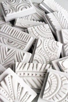 Stamps made out of craft foam