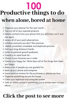 doing productive things as bored at home # as .-produktive Dinge zu tun, als gelangweilt zu Hause productive things to do as bored at home # as # bored do - Life Hacks, Life Tips, Vie Motivation, Bored At Home, Productive Things To Do, Habits Of Successful People, Productive Day, Successful Women, Things To Do When Bored