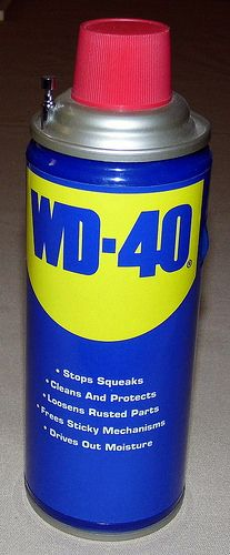 Vintage WD-40 Novelty Transistor Radio, AM-FM Bands, Made In China.