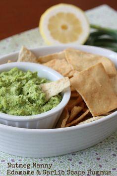 Edamame & Garlic Scape Hummus by Nutmeg Nanny