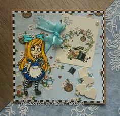 Alice in Wonderland Vsible Image stamp. Image Stamp, Disney Stuff, Junk Journal, Alice In Wonderland, Card Ideas, Chloe, Stamps, Card Making, Crafting
