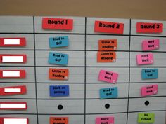 Daily 5 Choice Board - use different colors for different choices