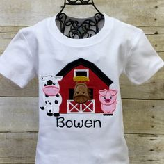 "Matilda Jane and ME are making these adorable Barnyard Animal Appliquéd Shirts for your Special ""littles""! Perfect for the next Farm themed Birthday Party!"