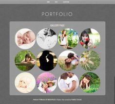 Minimalist Portfolio Wordpress Theme Template Dark Portfolio Blog Theme with Circular Images