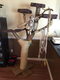 Made from a real tree. Perfect for your cat, and a lot cheaper than buying a cat condo