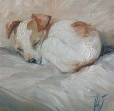 "Daily Paintworks - ""Cozy time"" - Original Fine Art for Sale - © Annette Balesteri Dog Portraits, Portrait Art, Figure Painting, Painting & Drawing, Illustrations, Illustration Art, Wildlife Art, Fine Art Gallery, Animal Paintings"