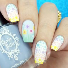 Easter nail designs are the cutest ones among the rest of the spring nail art ideas. Check out this compilation to see some the best Easter nail designs to try this weekend! Easter Nail Designs, Easter Nail Art, Cute Nail Art Designs, Dot Nail Art, Polka Dot Nails, Polka Dots, Spring Nail Art, Spring Nails, Nail Art Mignon