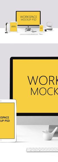 Free Workspace PSD Mockup