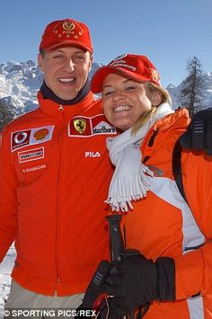 Michael Schumacher and his wife