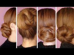 Bun Hairstyles for Office Women In 2020 4 Easy Hair Bun Tutorials for the Holidays Cute Bun Hairstyles, Updo Hairstyles Tutorials, Bun Tutorials, Holiday Hairstyles, Classic Hairstyles, Simple Bridal Hairstyle, Chignon Simple, Simple Bun, Easy Bun Tutorial