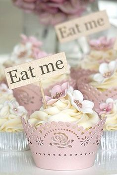 Alice In Wonderland | eat me cupcakes