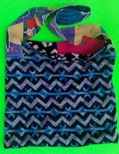 Sparkly Blue Tote/upcycled/reversible by LarissaMyrie on Etsy  one of a kind larissamyrie.art washable, strong, upcycled, fun, #fashion #style #art #barbie #shoppingbag #totebag #shoulderbag #slowfashion