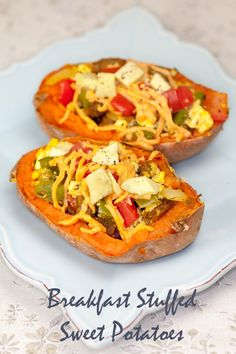 Vegan Breakfast Stuffed Sweet Potatoes