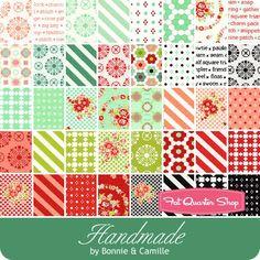 Handmade Fat Quarter Bundle Bonnie & Camille for Moda Fabrics - Fat Quarter Bundles | Fat Quarter Shop