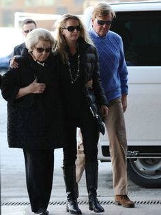 Queen Beatrix of the Netherlands walks alongside Prince Johan Friso's wife Princess Mabel and Prince WillemAlexander as they arrive on February 24 at...