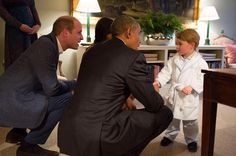 Prince George meets Barack Obama... in his dressing gown! - Good Housekeeping
