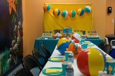 "Pool Party / Birthday ""Pool Party Fun w/o Sun"" Water Birthday Parties, Beach Ball Birthday, Summer Birthday, 5th Birthday, Birthday Party Themes, Birthday Ideas, Pool Party Snacks, Golf Party, Party Fun"