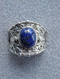 Lapis Lazuli Ring...my favorite stone in a gorgeous setting!!
