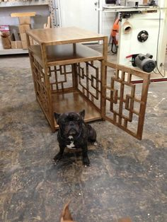 fancy dog crates furniture. Stylish Dog Crate That Doubles As A Convenient Side Table. The Perfect House For Your Furry Friend. Fancy Crates Furniture D