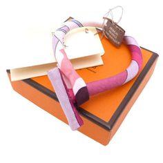 Hermes Silk Bangle Bracelet