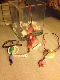 Colgantes en ágatas de colores y cuero Lava, Washer Necklace, Drop Earrings, Jewelry, Pendants, Leather, Jewels, Colors, Jewlery