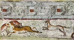 Hunting with dogs, François Tomb, Vulci