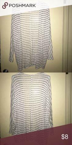 Striped cardigan Black and white striped cardigan. Very thin and sheer material. Super cute for any season! Only worn a few times, perfect condition. Forever 21 Sweaters Cardigans