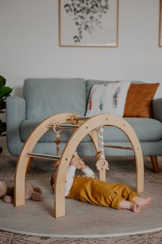 Australian Made wooden arched baby gym by Nester and cub. Designed to be used wi. Australian Made Boho Nursery, Nursery Neutral, Baby Gym Mat, Montessori, Natural Nursery, Play Gym, Cute Baby Pictures, Baby Development, Boho Baby