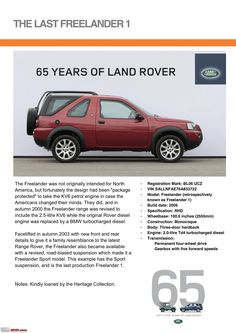 Land Rover is a car brand that specialises in four-wheel-drive vehicles, owned by British multinational car manufacturer Jaguar Land Rover, which has been Land Rover Car, Jaguar Land Rover, Land Rover Defender, Advertising History, Car Advertising, Range Rover Off Road, Land Rover Freelander, 65th Anniversary, Transporter