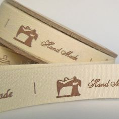 15 mm Handmade Word and Pictures Cotton Ribbon 5/8 inch