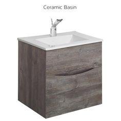 Crosswater Bauhaus Glide II Driftwood 50 Vanity Unit and Basin Basin Unit, Basin Taps, Flexible Furniture, Mid Century Modern Decor, American Walnut, Vanity Units, Rustic Industrial, Colour Schemes, Bathroom Furniture
