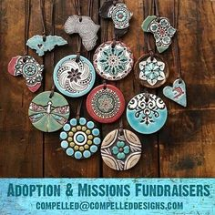 Risk-free Fundraisers for Adoption and Missions trips. Your only up-front cost is shipping ($7) and you can return unsold pieces when you are done. Each one has a scripture reference on the back. Email us for more info Compelled@CompelledDesigns.com