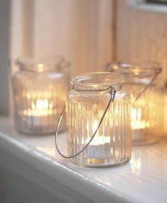 World Market has these in colors... string with lights instead of candles for bedroom.