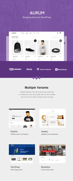 Aurum 2.9.6 supports the latest Wordpress (4.7.x) and WooCommerce (2.6.14)   Aurum – its a minimalist WooCommerce theme that will give you and your customers a smooth shopping exp...