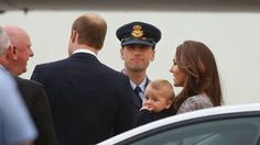 07 April 2014 The Duke and Duchess of Cambridge and Prince George touched down at Sydney Airport to transfer after flying in from the Britain on a Qantas jet .They have now transferred to a Royal New Zealand aircraft and are on their way to Auckland