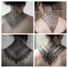 Tatoo mandala #neck#black#inlove#tatoos