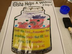 crafts for elijah helps a widow.. painting with baby oil makes it look like…
