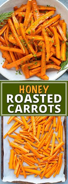 Honey Roasted Carrots Recipe Honey roasted carrots are a healthy easy glutenfree dairyfree and vegetarian roasted carrots recipe that makes a great vegetable side dish r. Herb Recipes, Carrot Recipes, Recipes Dinner, Holiday Recipes, Chicken Recipes, Beans Recipes, Holiday Meals, Christmas Recipes, Gluten Free Recipes