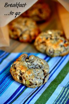 Gluten-free whole grain banana pecan breakfast cookies